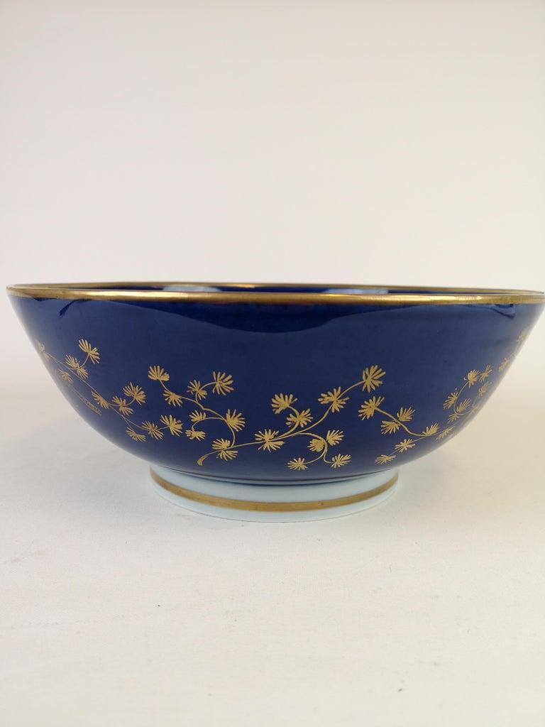 Large Antique Porcelain Punch Bowl Samson France In Good Condition For Sale In Langserud, SE
