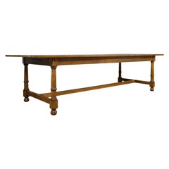 Large, Antique Refectory Table, Scottish, 8 Seat, Oak, Dining, Victorian