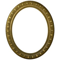 Large Antique Regency Gilt Oval Looking Glass Frame