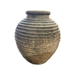 Large Antique Ribbed Greek Vessel