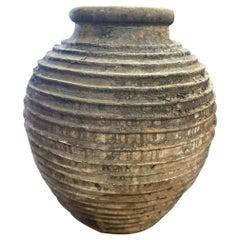 Large Antique Ribbed Greek Vessel