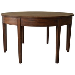 Large Antique Round Dry Mahogany Table English, Georgian
