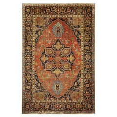 Large Antique Rugs Oriental Carpet Handwoven Traditional  Wool
