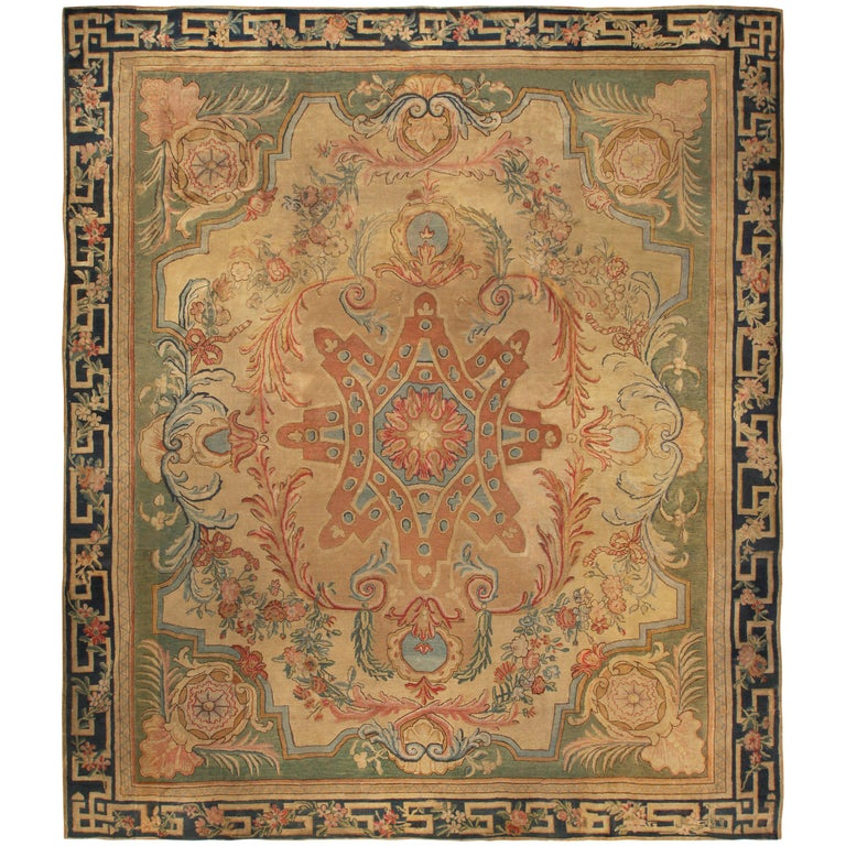 Antique Large Rug: Large Antique Savonnerie Rug For Sale At 1stdibs