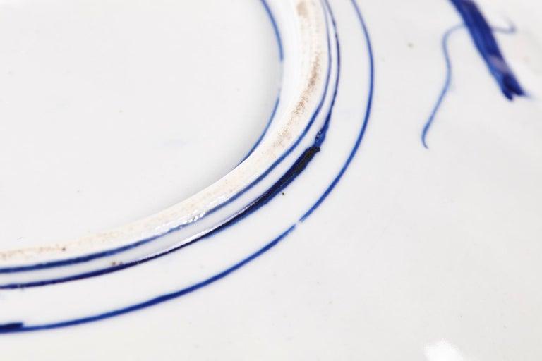 Large Antique Scalloped Edge Japanese Imari Porcelain Dish For Sale 2
