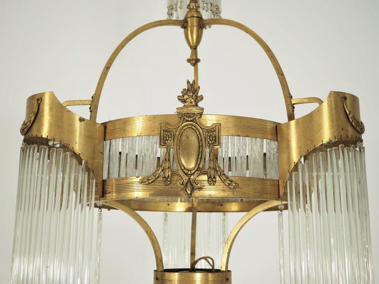 Large Antique Secession Chandelier. Original condition