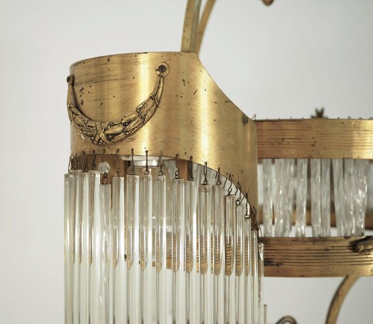 Large Antique Secession Chandelier In Good Condition In Bielsko Biala, slaskie