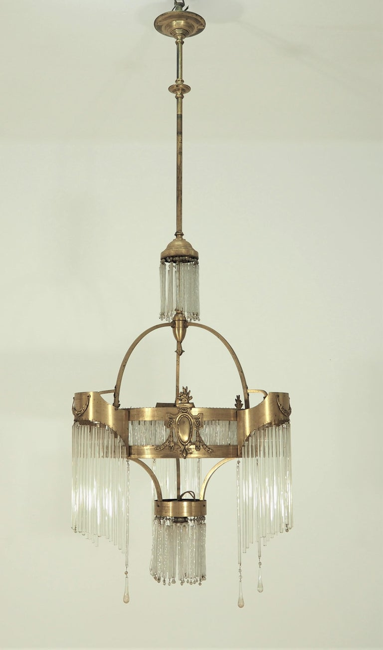 Early 20th Century Large Antique Secession Chandelier