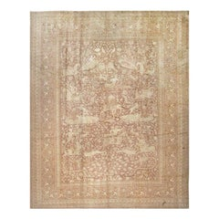Large Antique Shabby Chic Indian Amritsar Hunting Design Rug