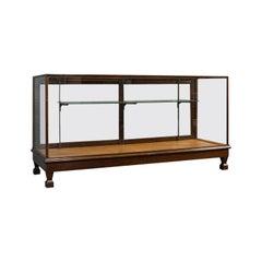 Large Antique Shop Display Cabinet, English, Oak, Showcase, Edwardian