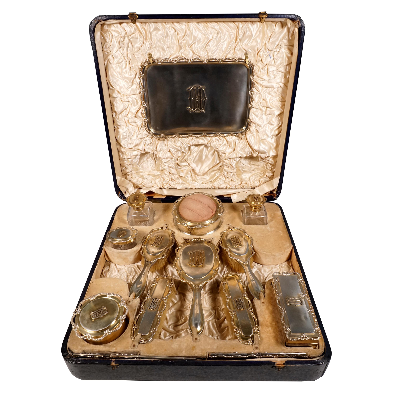 Large Antique Silver Necessaire De Toilette William Comyns & Sons, London 1909