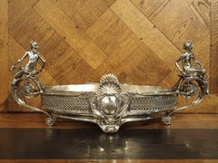 Large Antique Silvered Bronze Jardiniere from France, circa 1890