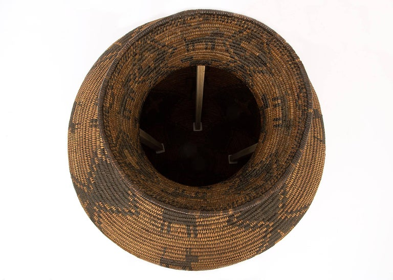 Large Antique Southwestern/Native American Basketry Olla, Apache, 19th Century For Sale 2