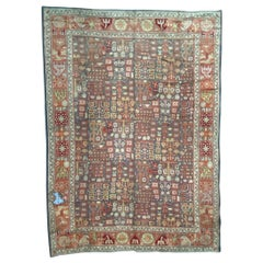 Large Antique Spanish Oushak Rug