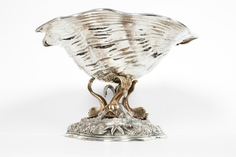 Large Antique Sterling Silver Centerpiece For Sale 5