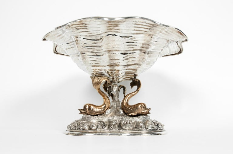 Large Antique Sterling Silver Centerpiece For Sale 3