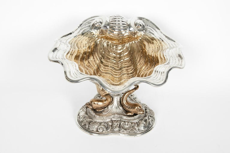 Large Antique Sterling Silver Centerpiece For Sale 4