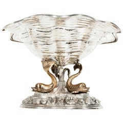 Large Antique Sterling Silver Centerpiece