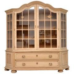 Large Antique Swedish Bleached Oak Dresser