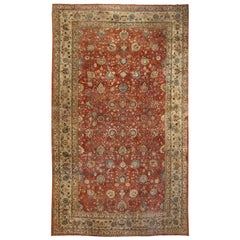 Large Antique Tabriz Persian Carpet. Size: 11 ft 2 in x 18 ft 6 in