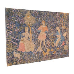 Large Antique Tapestry, French, Needlepoint, Decorative Wall Covering, C.1920