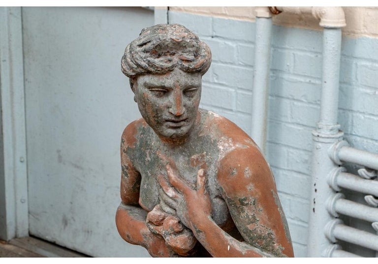 Large Antique Terracotta Figure of Venus For Sale 1
