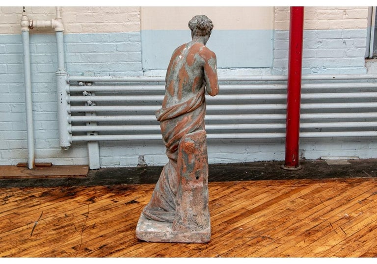 Large Antique Terracotta Figure of Venus For Sale 2