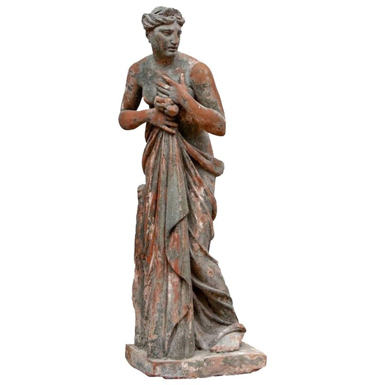 Large Antique Terracotta Figure of Venus For Sale