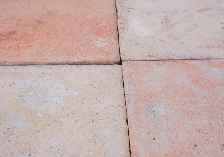 Large Antique Terracotta Square Flooring For Sale 1