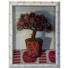 Large Antique Textile Collage by Patrizia Medail