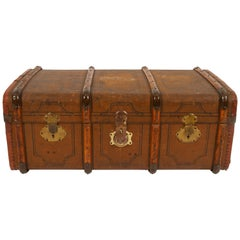 Large Antique Travel Trunk, 1920s