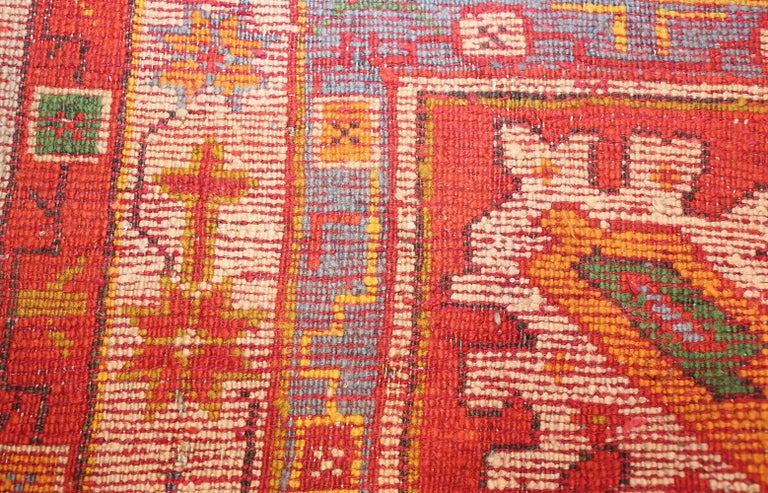 20th Century Large Antique Turkish Oushak Rug. Size: 14 ft 2 in x 19 ft (4.32 m x 5.79 m) For Sale