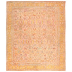 Large Antique Turkish Oushak Rug. Size: 14 ft 7 in x 17 ft 6 in