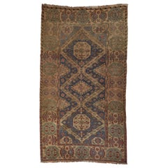 Large Antique Caucasian Rug with Intricate Details