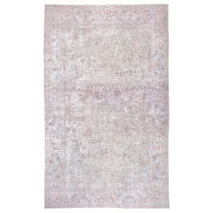 Large Antique Turkish Sivas Carpet, Soft Palette, Light Colors, circa 1930s