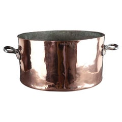Large Antique Two Handled Copper Pan, English 19th Century