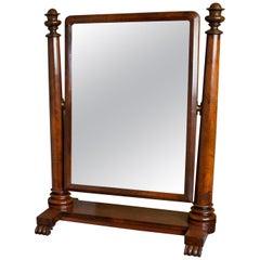 Large Antique Vanity Mirror English, Regency, Toilet, Swing, Platform circa 1830