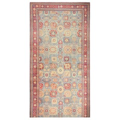 Large Antique Vase Design Indian Agra Rug. Size: 13 ft x 34 ft