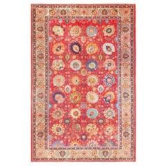 Large Antique Vase Design Persian Tabriz Rug. Size: 12 ft 10 in x 19 ft 6 in