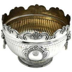 Large Antique Victorian Monteith Style Punch Bowl / Champagne Wine Cooler 1889