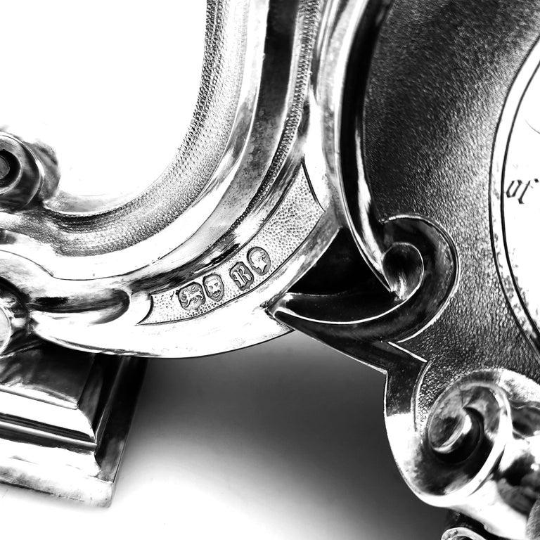 Large Antique Victorian Solid Silver Candelabra 1852 Candelabrum / Candleholder For Sale 5