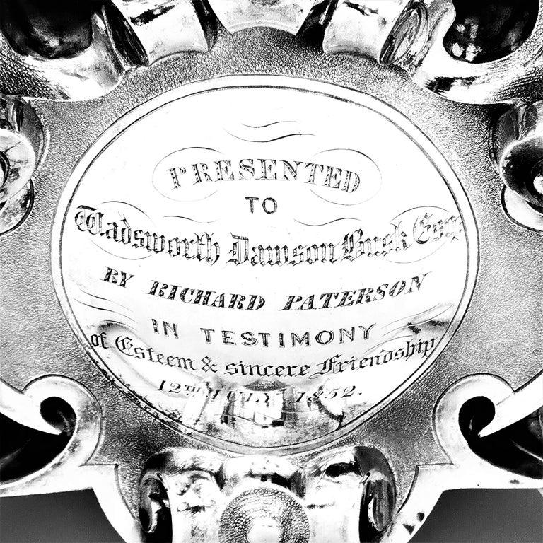 Sterling Silver Large Antique Victorian Solid Silver Candelabra 1852 Candelabrum / Candleholder For Sale
