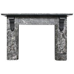 Large Antique Victorian St Anne Marble Fireplace Surround