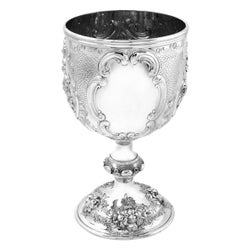 Large Antique Victorian Sterling Silver Cup / Goblet, 1863