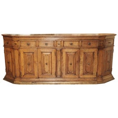 Large Antique Walnut Wood Credenza from Tuscany Italy, 17th Century