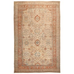 Large Antique Ziegler Sultanabad Carpet. Size: 14 ft 5 in x 22 ft 3 in