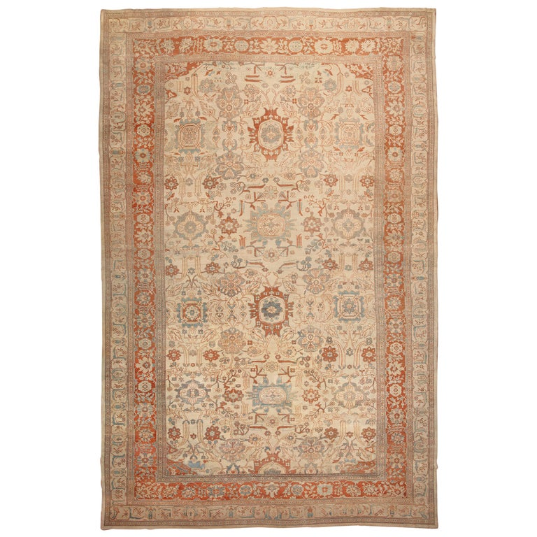 Large Antique Ziegler Sultanabad Carpet. Size: 14 ft 5 in x 22 ft 3 in For Sale