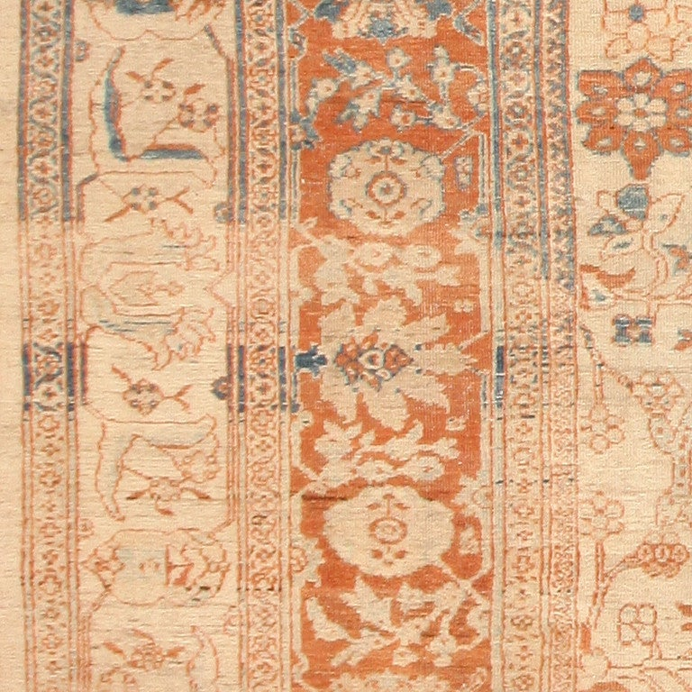 Hand-Knotted Large Antique Ziegler Sultanabad Carpet. Size: 14 ft 5 in x 22 ft 3 in For Sale