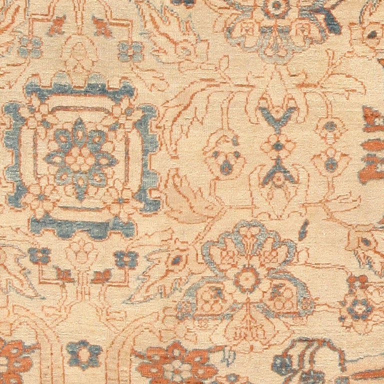 Large Antique Ziegler Sultanabad Carpet. Size: 14 ft 5 in x 22 ft 3 in In Excellent Condition For Sale In New York, NY