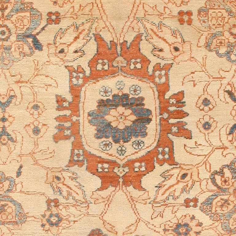 19th Century Large Antique Ziegler Sultanabad Carpet. Size: 14 ft 5 in x 22 ft 3 in For Sale
